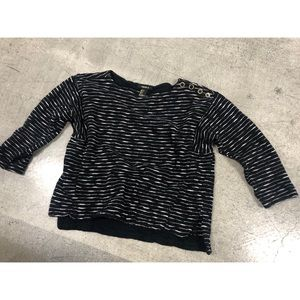 Forever 21 black sweater summer cropped beach top